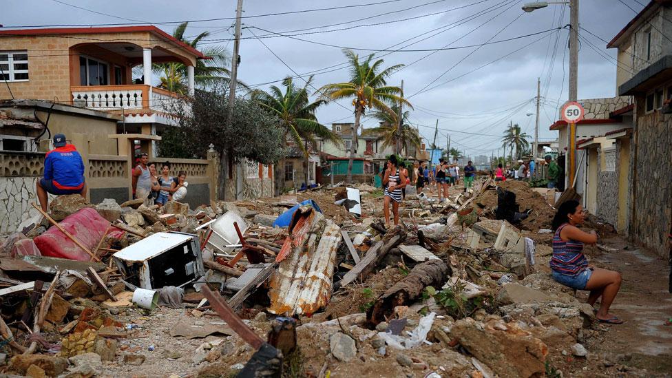 Uno de los sitios más golpeados en Cuba fue la localidad costera de Cojimar.