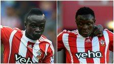 Sadio Mane and Victor Wanyama