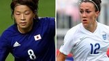 Aya Miyama and Lucy Bronze