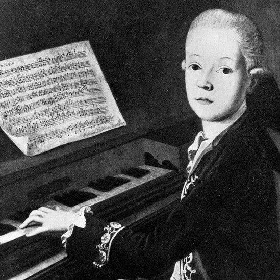 Mozart en su infancia, retrato