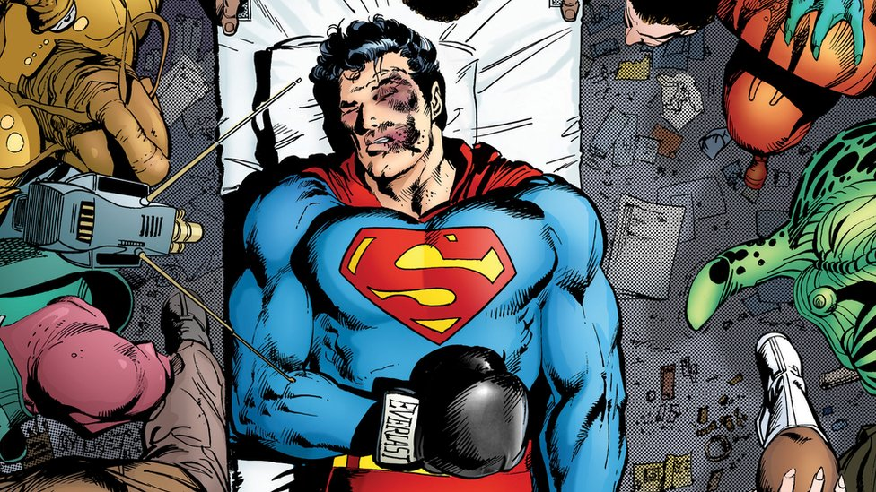 Superman knocked out