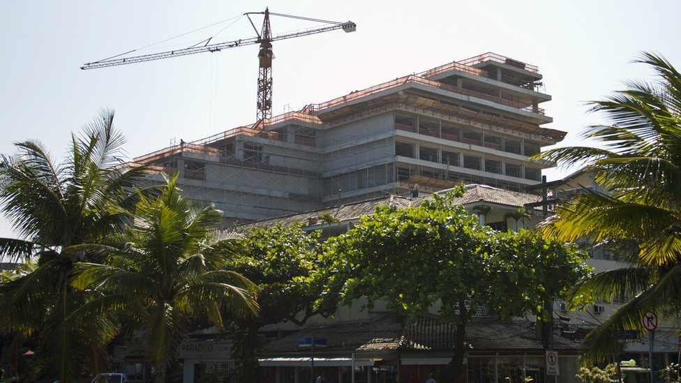 Hotel en construcción en Río de Janeiro del que se retiró la Organización Trump.