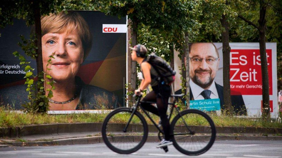 Las encuestas dan como favorita a Merkel.