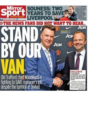 Today's newspaper gossip: Man United vice-chair backs Van Gaal, Townsend to Newcastle