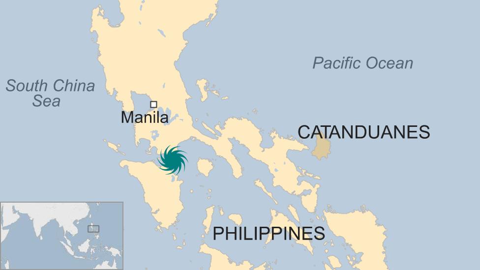 Topan Nock-Ten menghantam pantai dekat pulau Catanduanes pada hari Minggu (25/12/2016).