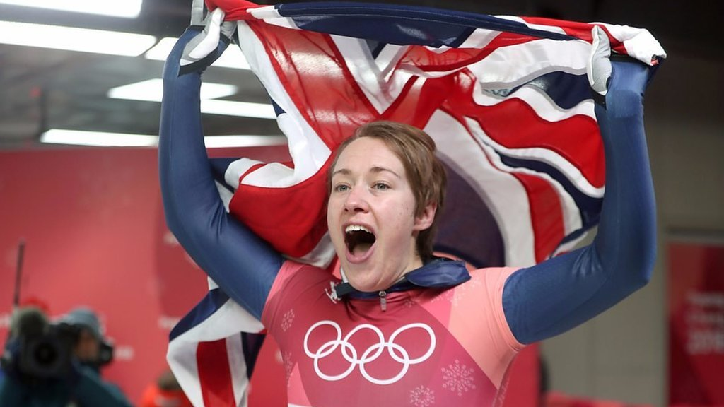 Winter Olympics: Lizzy Yarnold defends skeleton gold
