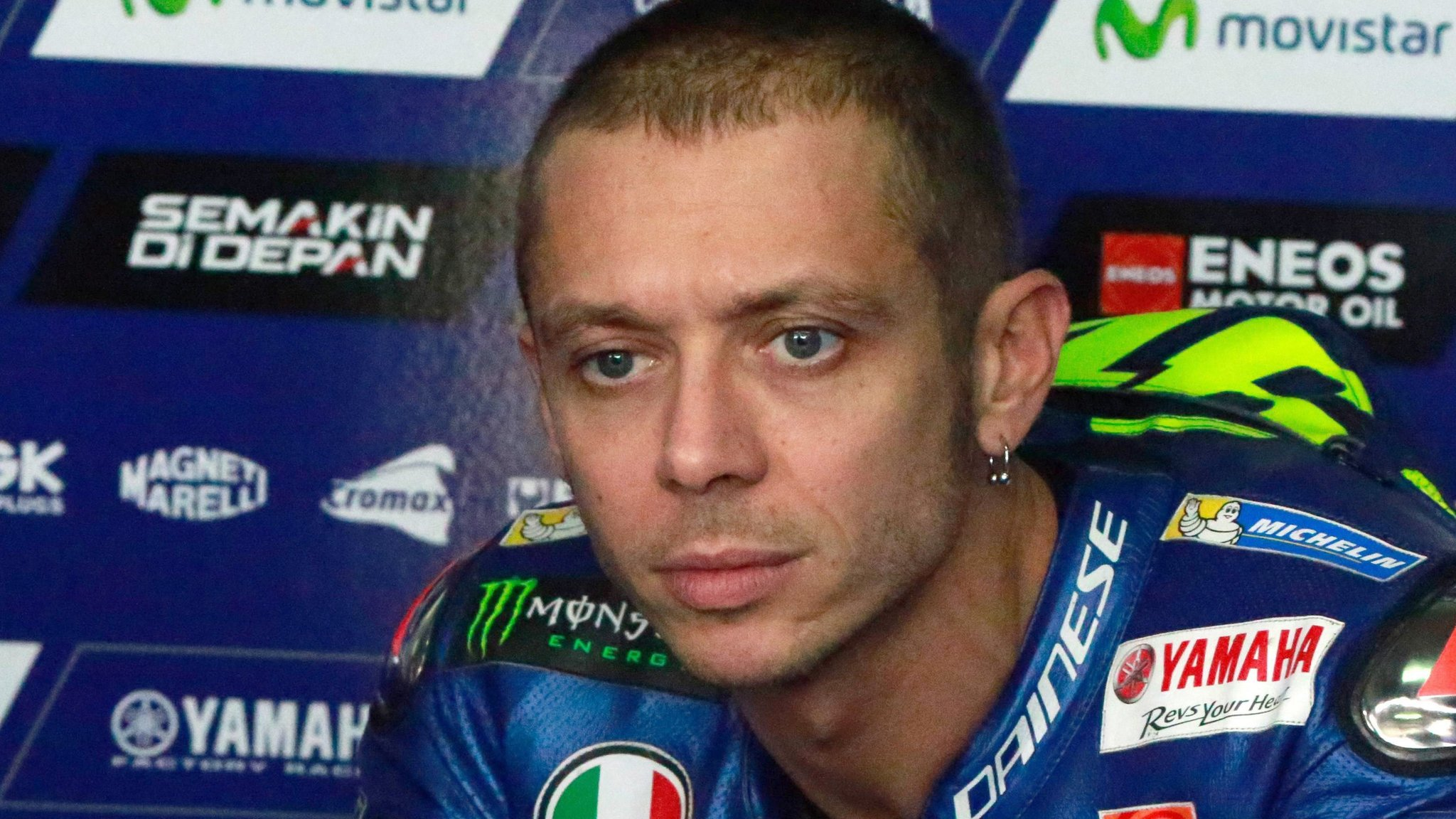 Valentino Rossi completes practice sessions at Aragon GP after double leg fracture