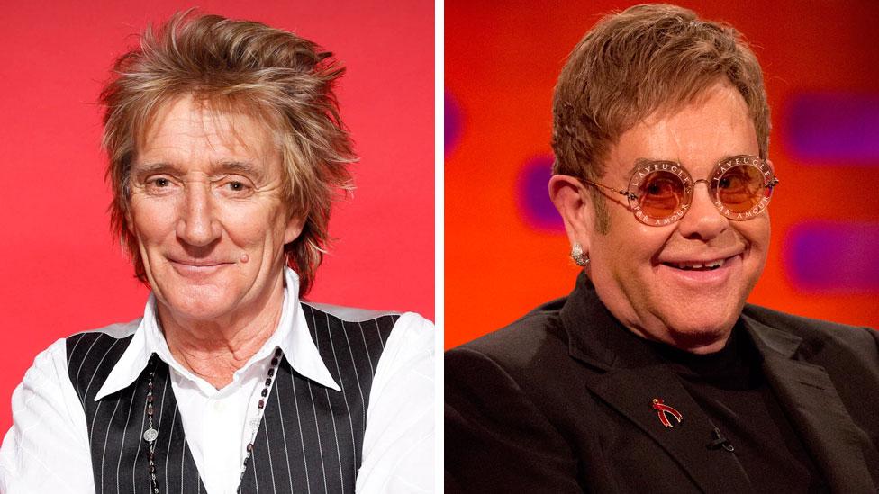 Sir Rod Stewart says Sir Elton John's final tour 'stinks of selling tickets'
