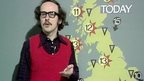 John Fish presenting the weather