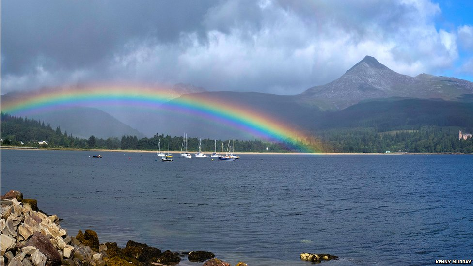 A Kilchoan Diary: Rain and Rainbows |Real Rainbows In The Sky On A Sunny Day