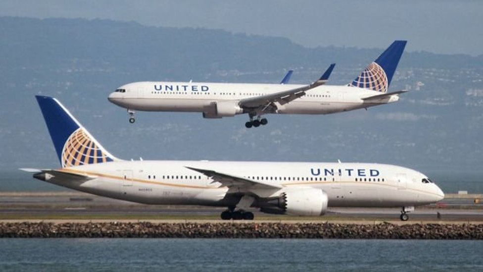 Foto genérica de aviones de United Airlines