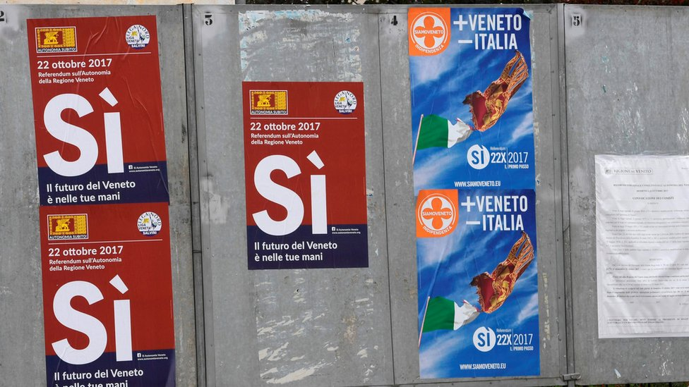 Italy referendums: Lombardy and Veneto vote on greater autonomy