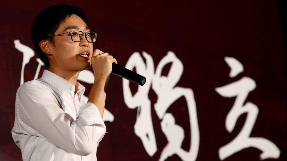Furore over HK activist speech
