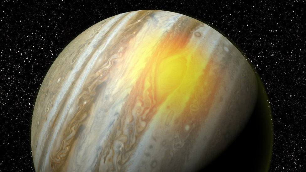 Jupiter's Great Red Spot 'roars with heat'