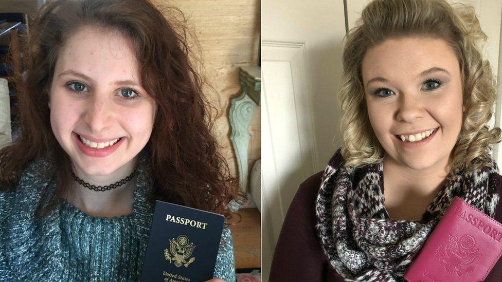 Morgan Grant y Hilary Cassoday, dos jóvenes estadounidenses que recientemente recibieron sus pasaportes (Foto: Morgan Grant / Hilary Cassoday)