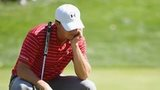 Jason Spieth ponders during The Barclays at Plainfield Country Club, New Jersey