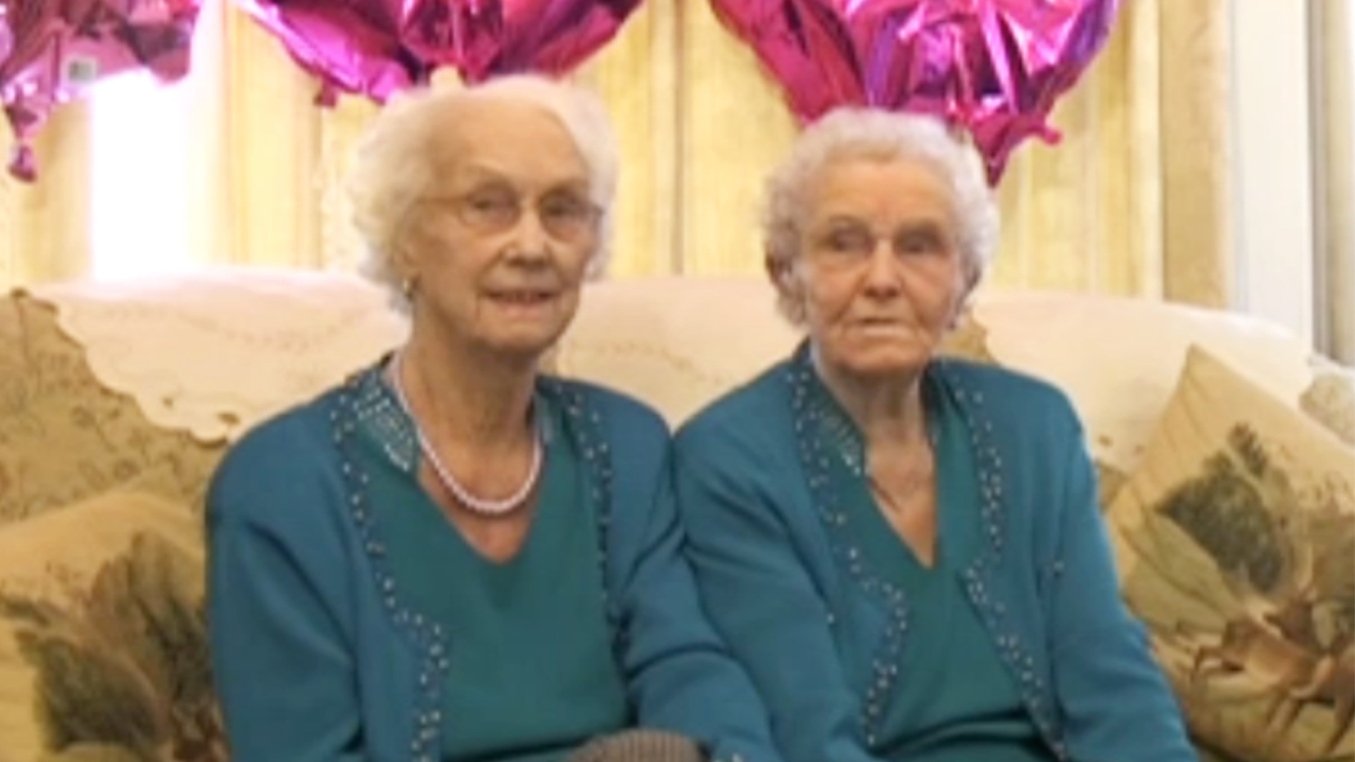 The twin sisters celebrating their 100th birthday