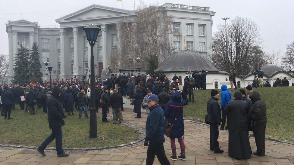У центрі Києва протестують проти УПЦ МП