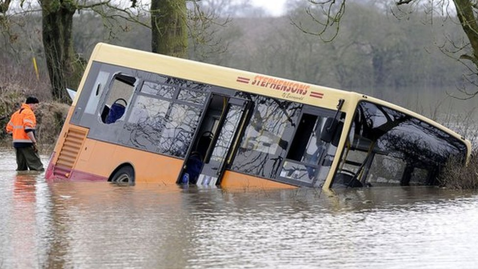 Easingwold School bus flood rescue: Driver jailed