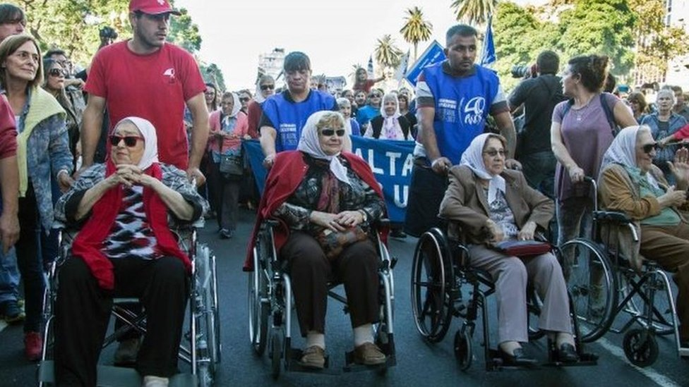 Argentina Plaza de Mayo: Rights group turns 40