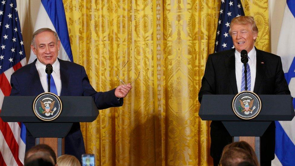 Benjamin Netanyahu y Donald Trump.