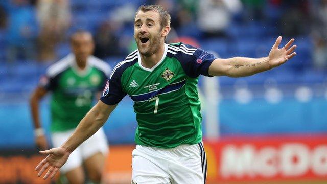 Euro 2016: Northern Ireland's Niall McGinn scores against Ukraine