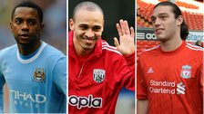 Robinho, Peter Odemwingie and Andy Carroll