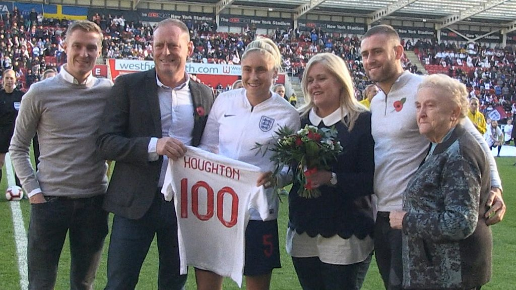 Steph Houghton: England captain dedicates 100 caps to family