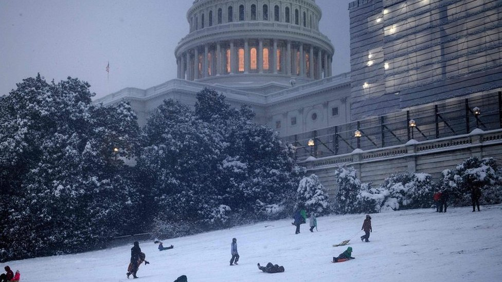 In pictures: Snow blankets Washington