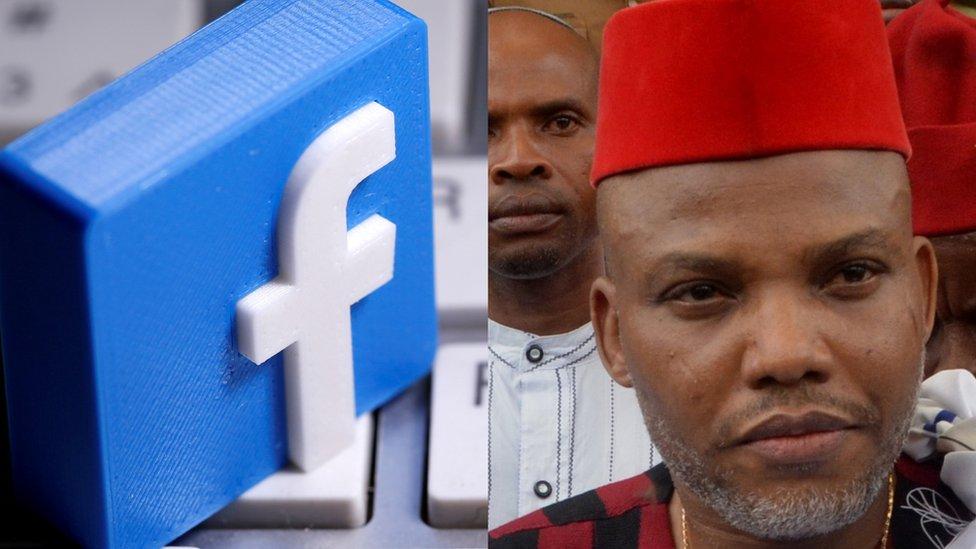 Image result for Facebook Bans Nnamdi Kanu Over Hate Speech