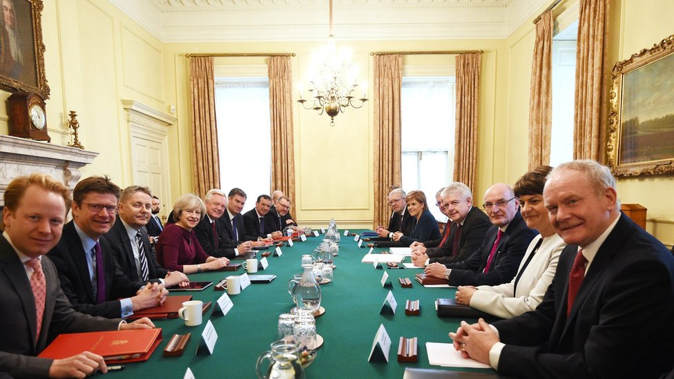 May holding Brexit talks with devolved nations
