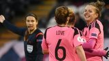 Scotland's Jo Love and Hayley Lauder celebrate