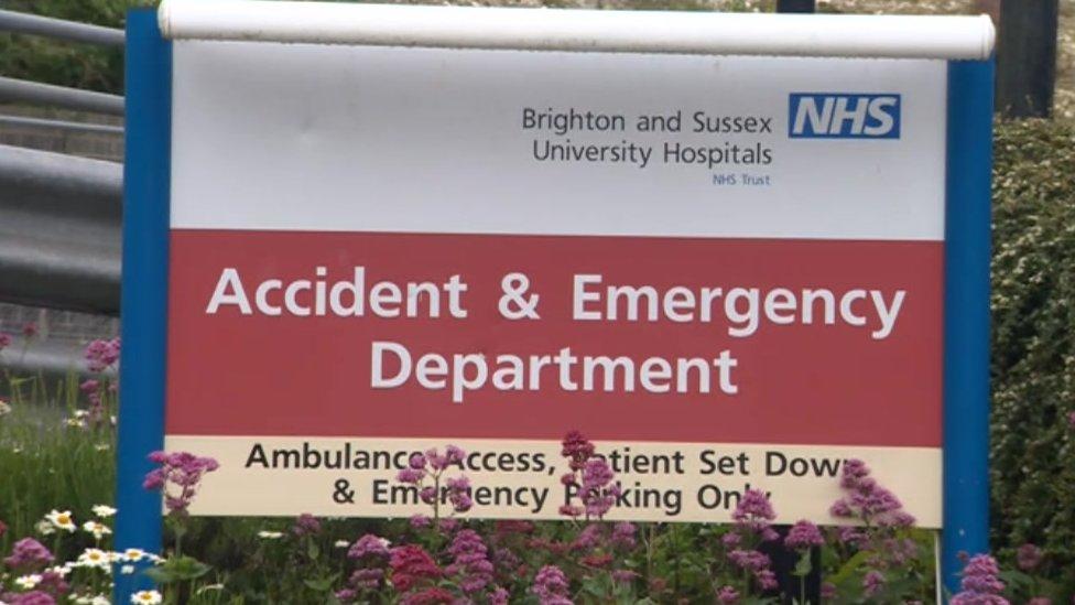 Brighton NHS trust on highest state of alert for weeks