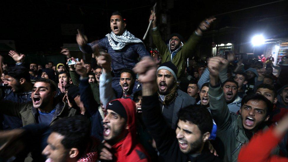 غضب عربي ودولي بعد اعلان ترامب اعترافة بالقدس عاصمة اسرائيل