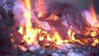 A burning costume