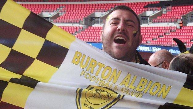 Burton v Man City: The fans ready to enjoy their night despite being 9-0 down