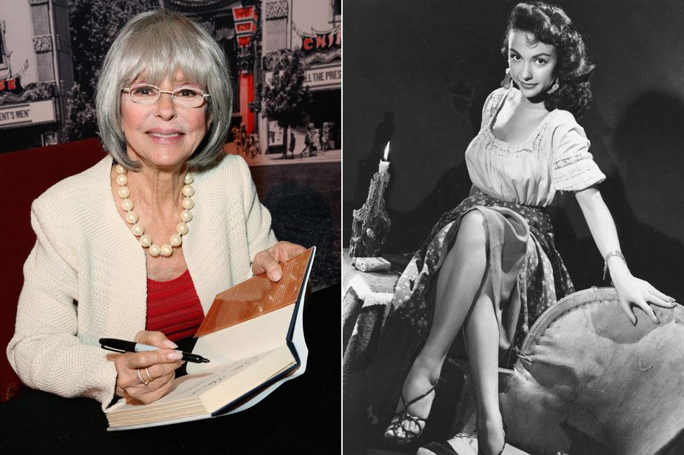 Rita Moreno en 2016 y 1952
