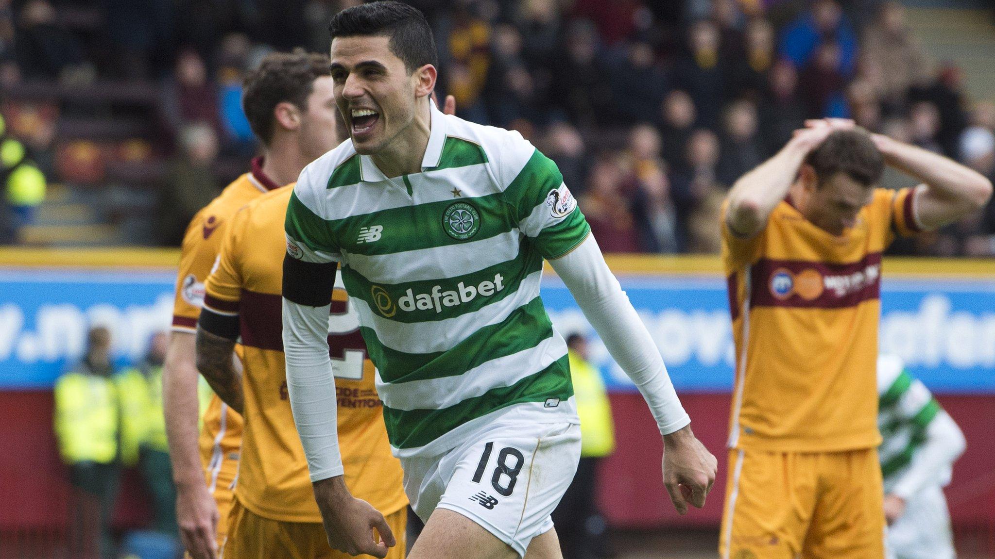 Celtic beat Motherwell in seven-goal thriller