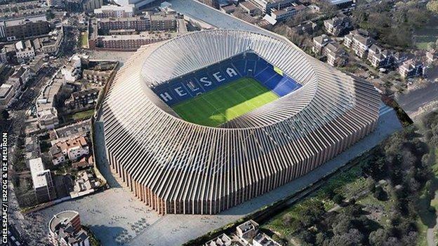 Vista aérea del nuevo Stamford Bridge (Foto: ChelseaFC/ Herzog & de Meuron)
