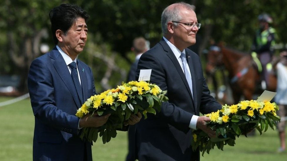 Japan PM in historic visit to Darwin 76 years after bombing