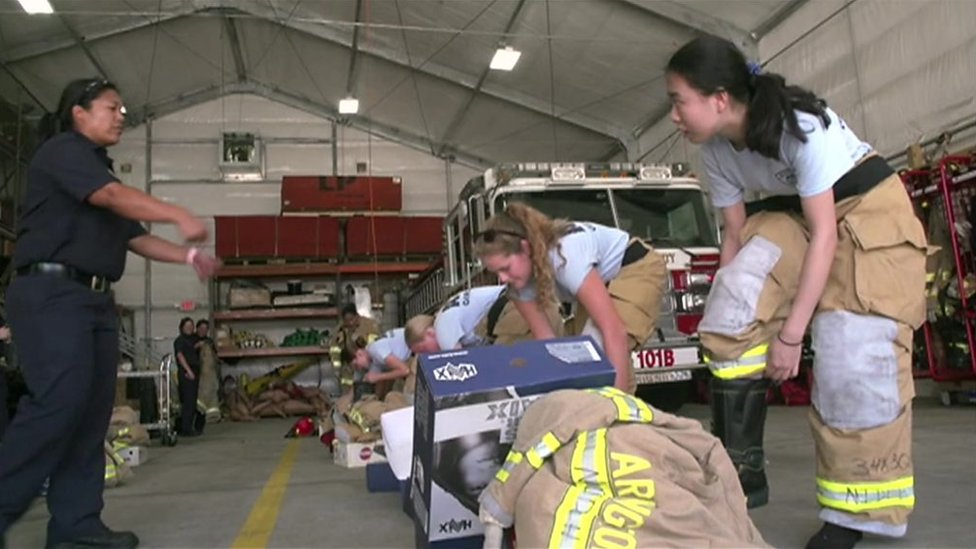 Ladders and chainsaws: The women teaching young girls firefighting skills