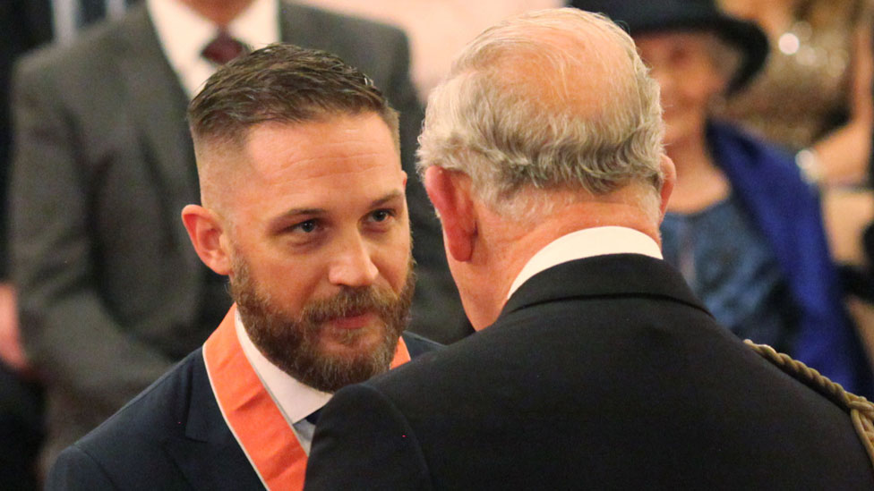 Tom Hardy made a CBE by Prince Charles