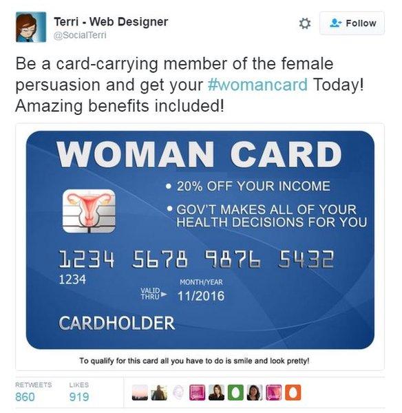 Tweet of Womancard