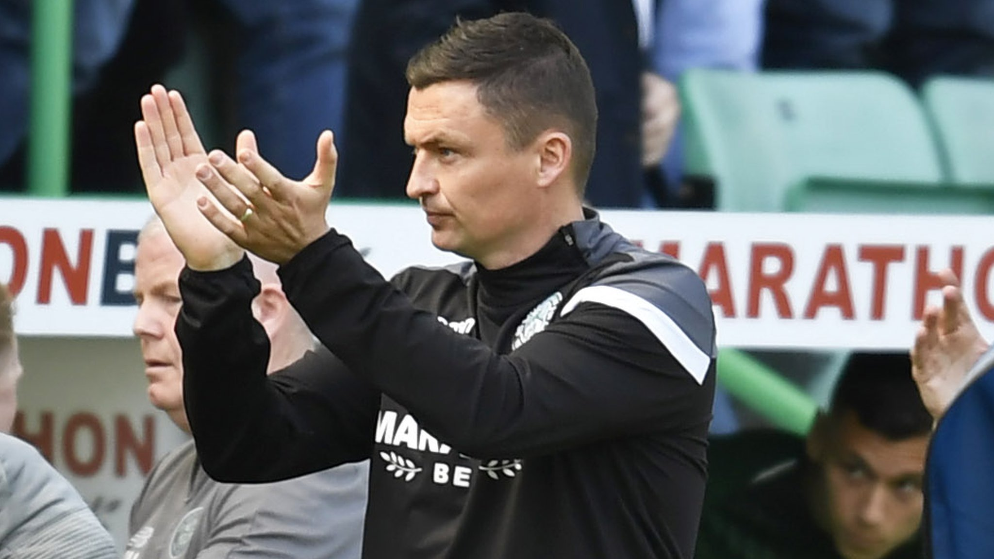Hibernian: Paul Heckingbottom 'a little bit in love' with players who 'give everything'