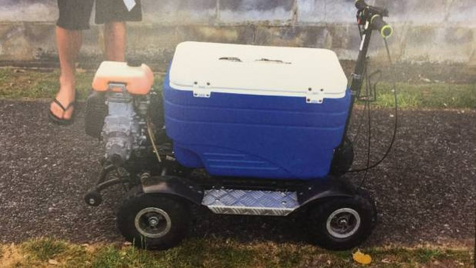 New Zealand man fined for drink-driving motorised cool box