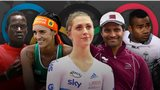 Rio Olympic hopefuls Guol Mading Maker, Fernanda, Laura Trott, Nasser Al-Attiyah and Jerry Tuwai