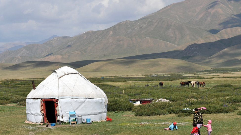 Traditional yurt in Kyrgyzstan