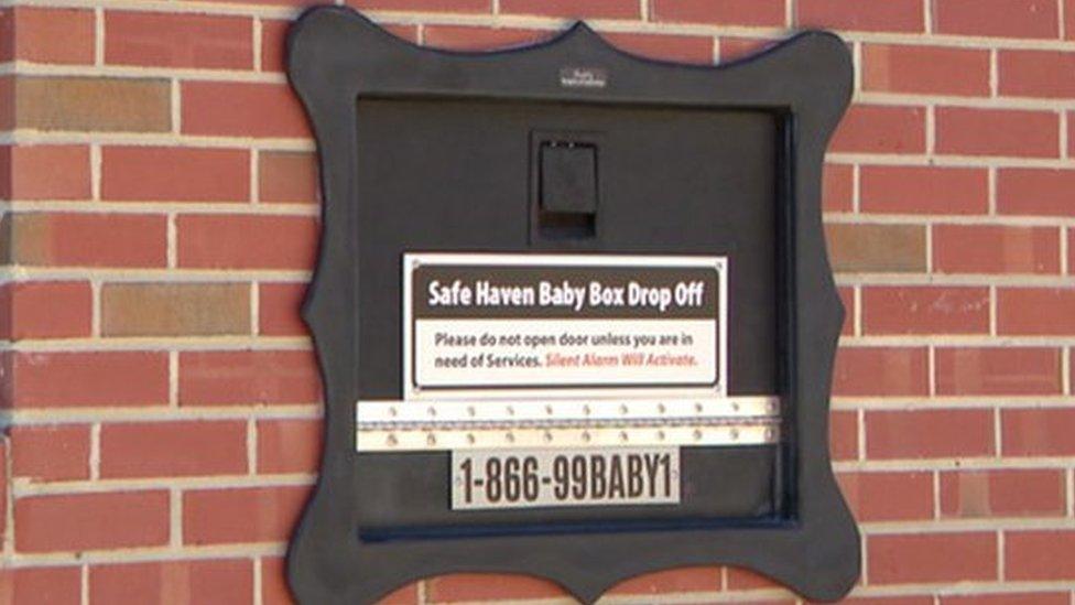 """El buzón para """"depositar"""" bebés recién nacidos no deseados que fue ins ..."""