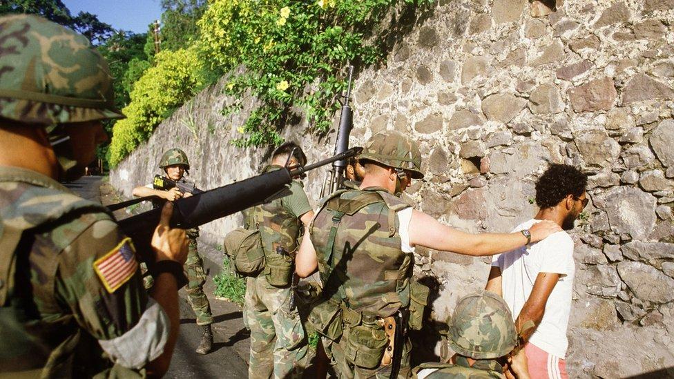 US troops intervening in Grenada