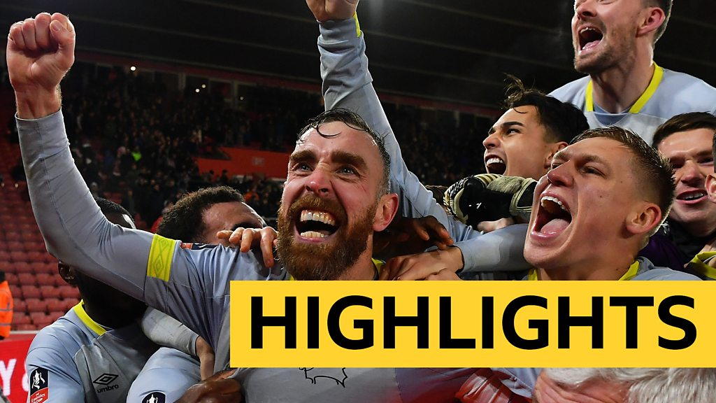 FA Cup: Southampton 2-2 Derby County (3-5 pens) Highlights